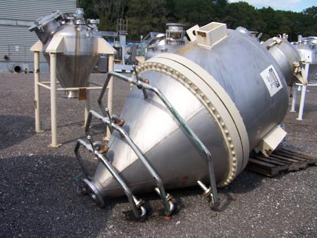 Used Bendel approx. 750 gallon 304 S/S cone bottom tank/hopper