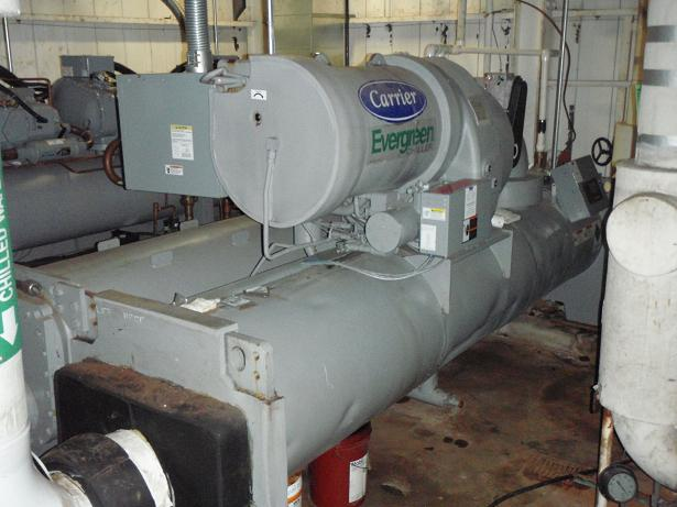 Used Carrier approximately 300 Ton Hermetic Centrifugal liquid type chiller