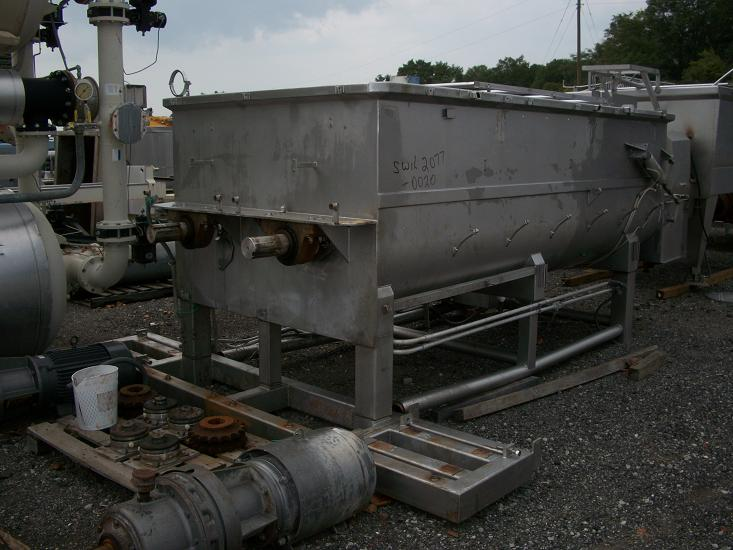Used RMF Model 28-10000 304 S/S 200 cu. Ft. double paddle blender(SOLD)