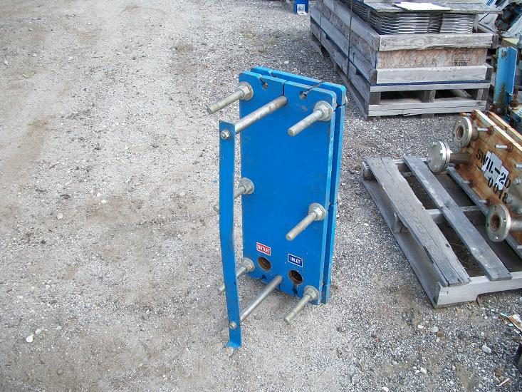 Used Graham Corporation 18 sq. ft. stainless steel plate heat exchanger