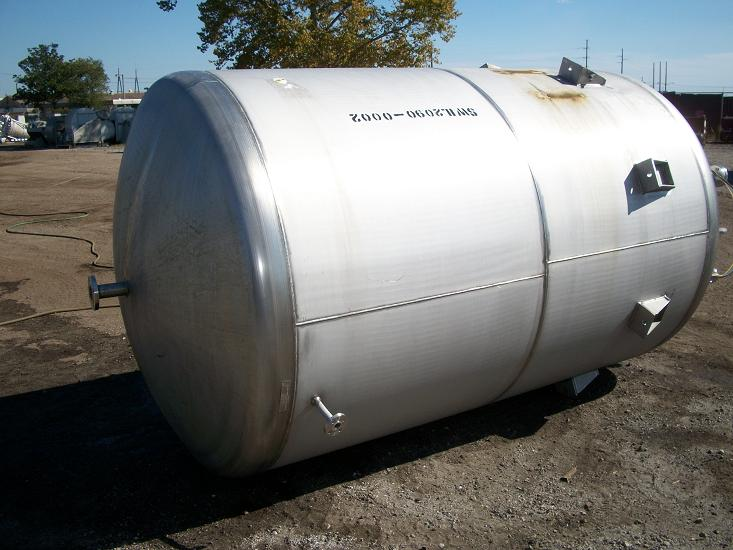 Used Industrial Air Inc. approx 1700 gallon T-316L S/S tank(SOLD)