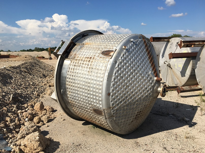 Used Viatec Process approximately 1000 gallon stainless steel mix tank
