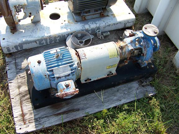 Used Labour T-316 stainless steel centrifugal pump 5HP