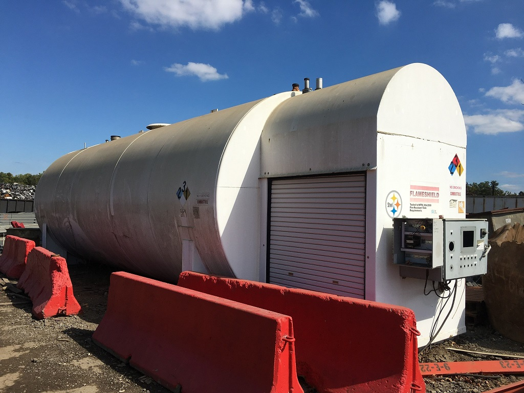 Used General Industries approximately 15,000 gallon horizotnal tank