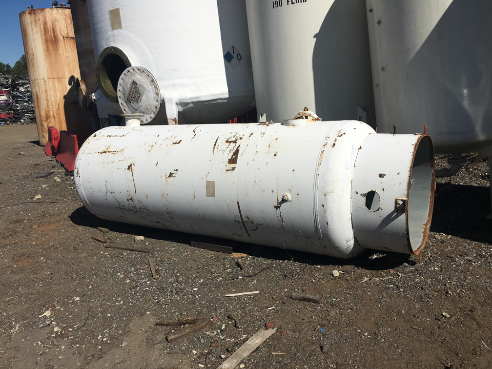 Used Brunner Eng & Mfg. approx. 950 gal. vertical carbon steel air receiver