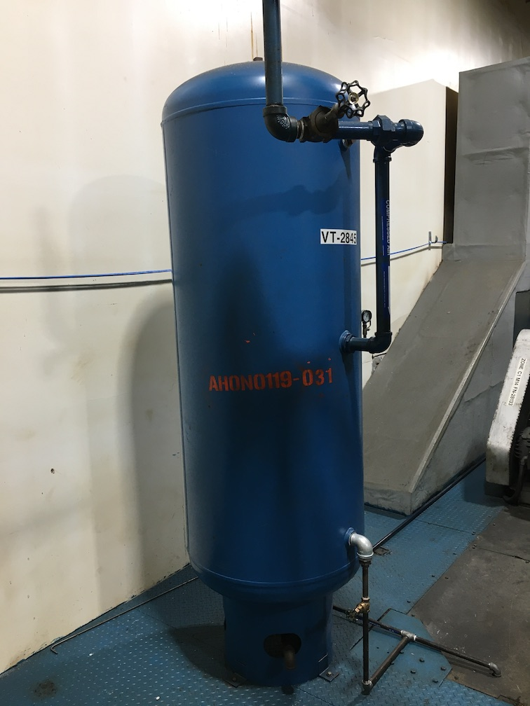 Used Silvan Industries approximately 200 gallon CS air receiver tank