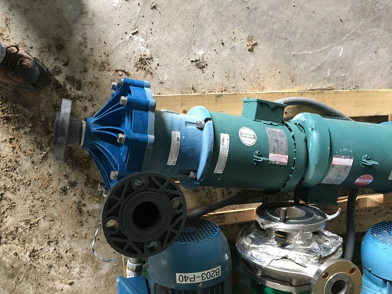 Used Finish Thompson Polypropylene Magnetic drive pump