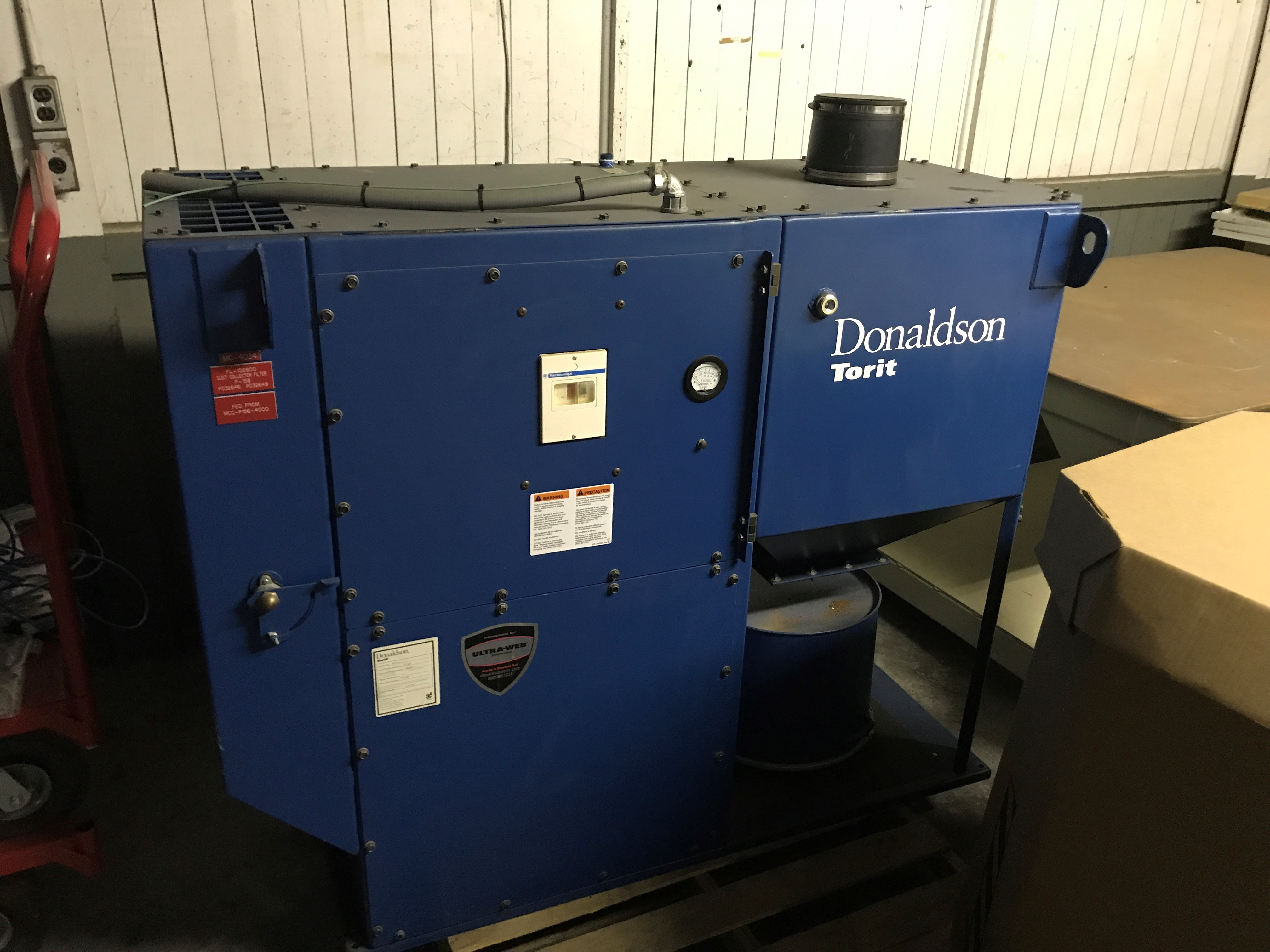 Used Donaldson Torit Model DFO 1-1 Downflo Oval Dust Collector