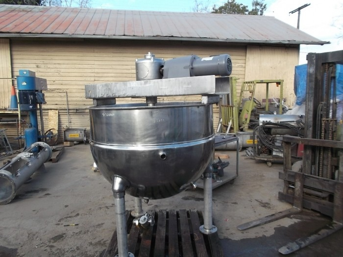 Used 200 gallon Dover Double Motion Kettle. Model 200. Stainless steel.