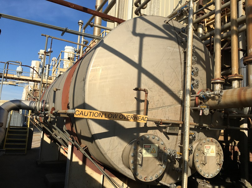 Used Mason Mfg. approximately 14,000 gallon 304 SS horizontal stor