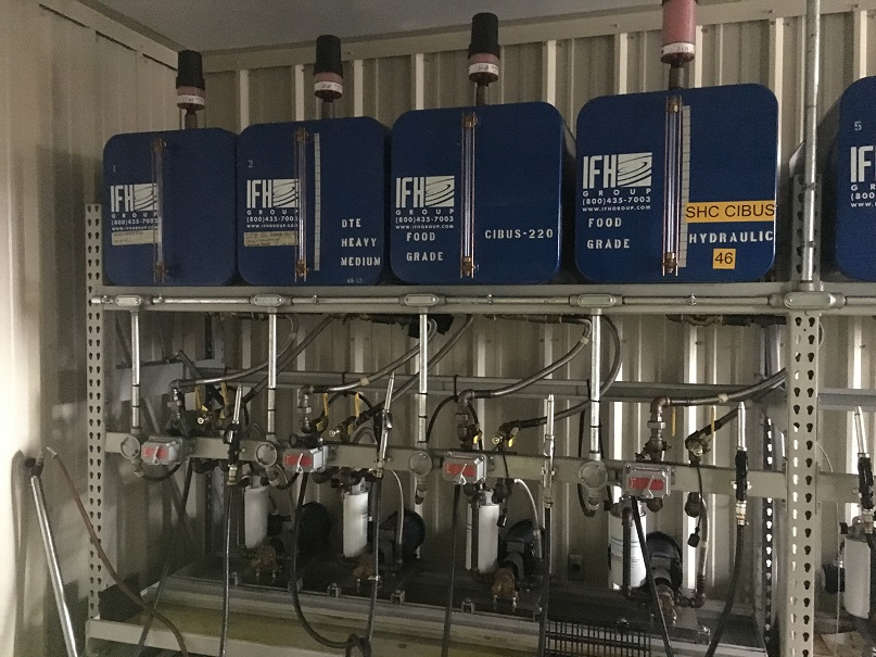 Used IFH fluid storage and dispensing system