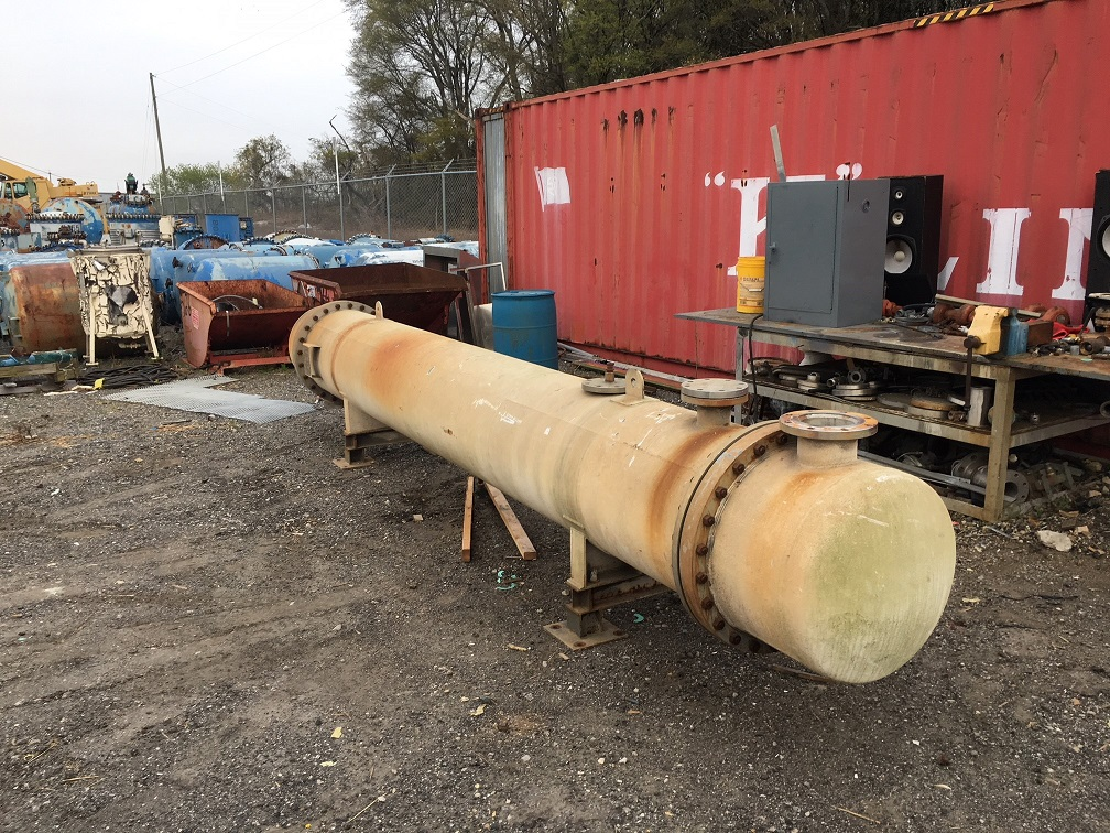 Used Trumbo Inc. approximately 1125 sq ft 304 S/S horizontal Heat Exchanger