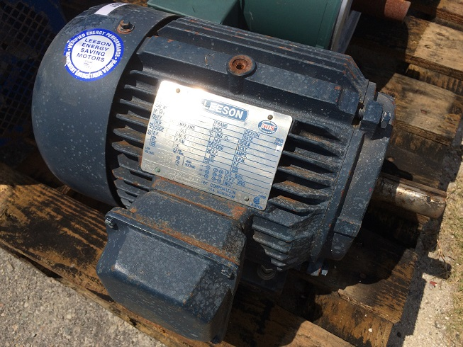 Unused Leeson 3 HP 3/60/208-230/460 volt motor.