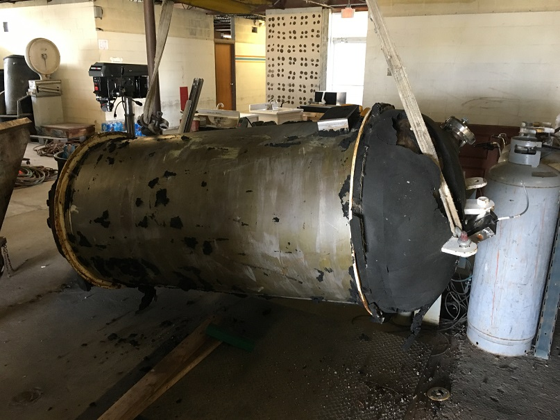 Used Hodge Engineering and Fabrication approx 115 gallon 304 SS Tank
