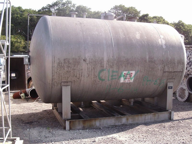 Used Gaston County Fabricators approximately 4500 gallon 316L SS Tank