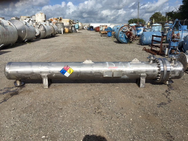Used Nooter Corp. approx. 225 sq. ft. u-tube shell and tube heat exchanger