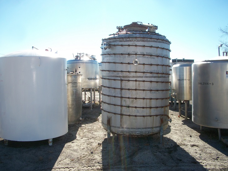 Used Circleville Metal Works, Inc. approximately 1500 gallon 316 S/S Tank