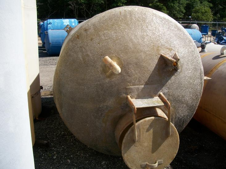 Used approximately 2000 gallon vertical FRP tank