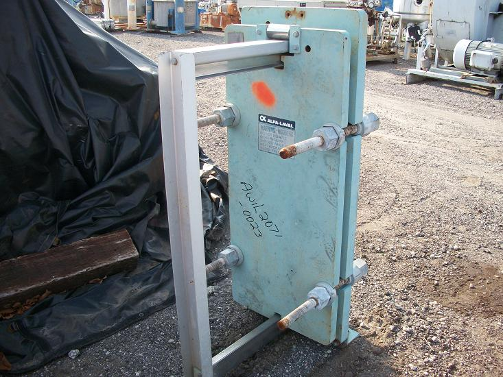 Used Alfa Laval 304 stainless steel plate heat exchanger.  Type AM10-FG