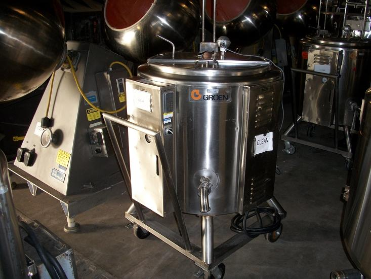 Used Groen 40 gallon 316 stainless steel electric steam kettle