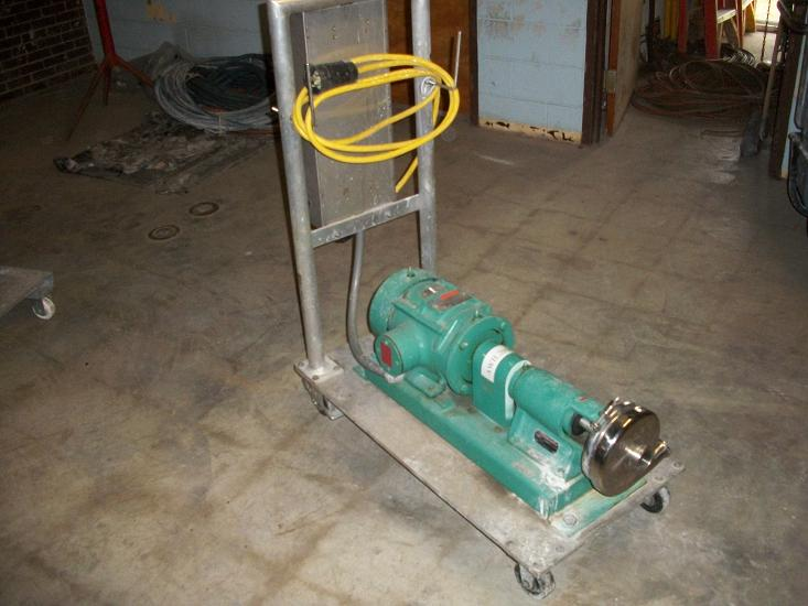 Used Ladish Co. sanitary stainless steel tri-clover pump. Model SP216MD-S