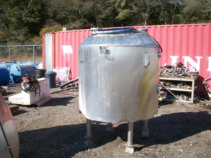 Used Pfaudler 300 gallon glass-lined reactor body