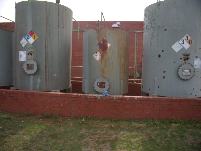 Used approximately 2500 gallon carbon steel storage tank