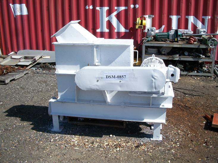Used Gruendler Crusher & Pulverizer Co. Model 142 carbon steel hammer mill.