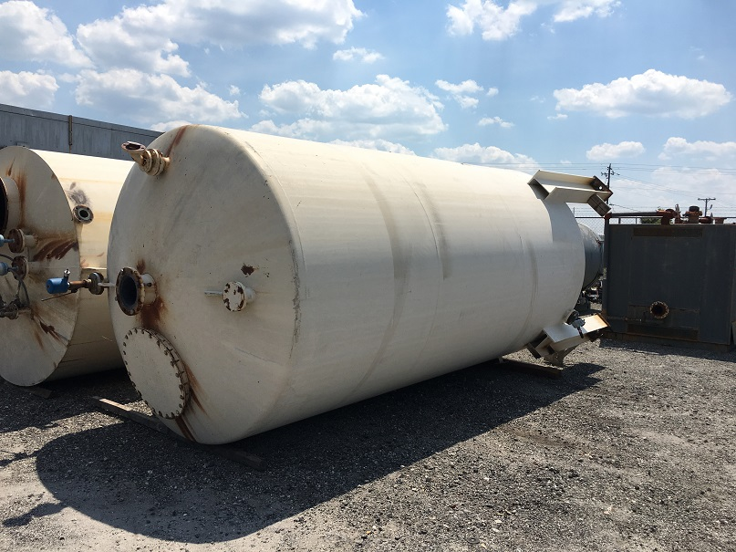 Used Kennedy 6100 gallon carbon steel vertical storage tank