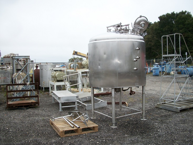 Used Cherry-Burrell approx. 800 gallon 304 S/S Jacketed Batch Processor