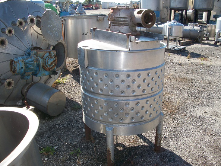 Used Toronto Coppersmithing approximately 100 gallon 316 S/S jacketd kettle