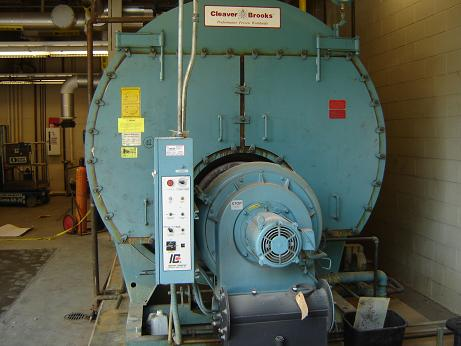 Used Cleaver Brooks CB Packaged firetube HW Boiler. Model CB/200250125