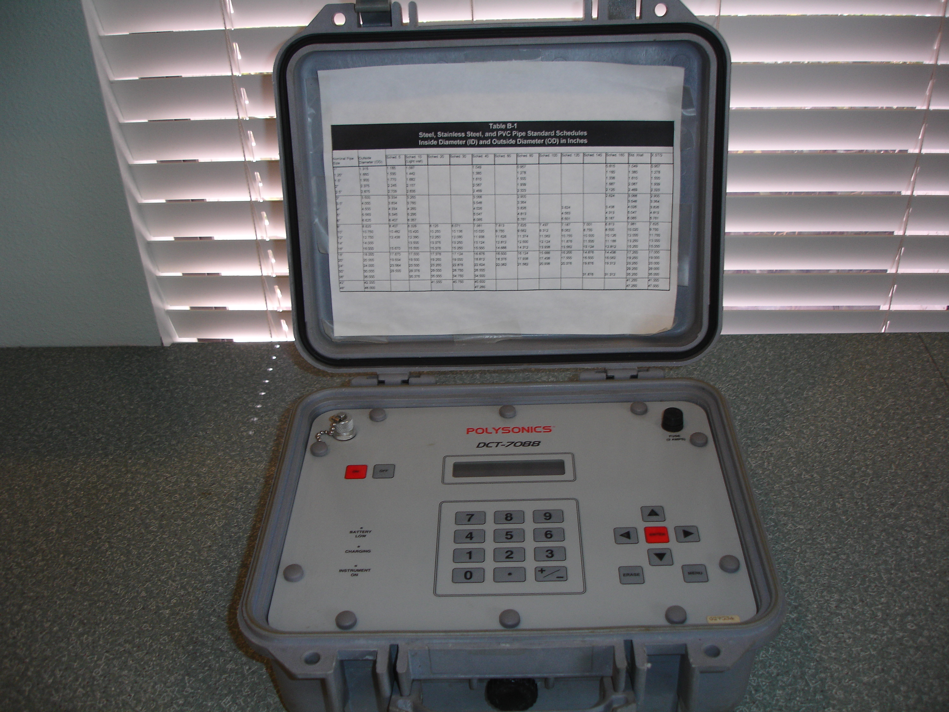 Peek Polysonics DCT7088 Portable Digital Transit Time Flow Meter